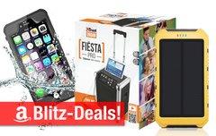 Blitzangebote:<b> Party-BT-Soundanlage, Solarladegerät, wasserdichte iPhone-Hülle, mobile Festplatte u.v.m. zum Bestpreis</b></b>