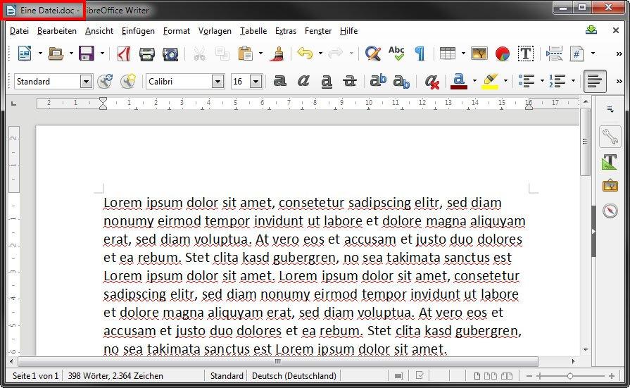 Das kostenlose Programm LibreOffice Writer kann DOC-Dateien öffnen.