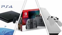 Bestpreise zur gamescom: Nintendo Switch, PlayStation 4, Xbox One X extrem günstig