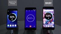 Dash Charge vs. Quick Charge: OnePlus 3 lädt deutlich schneller als das Galaxy S7