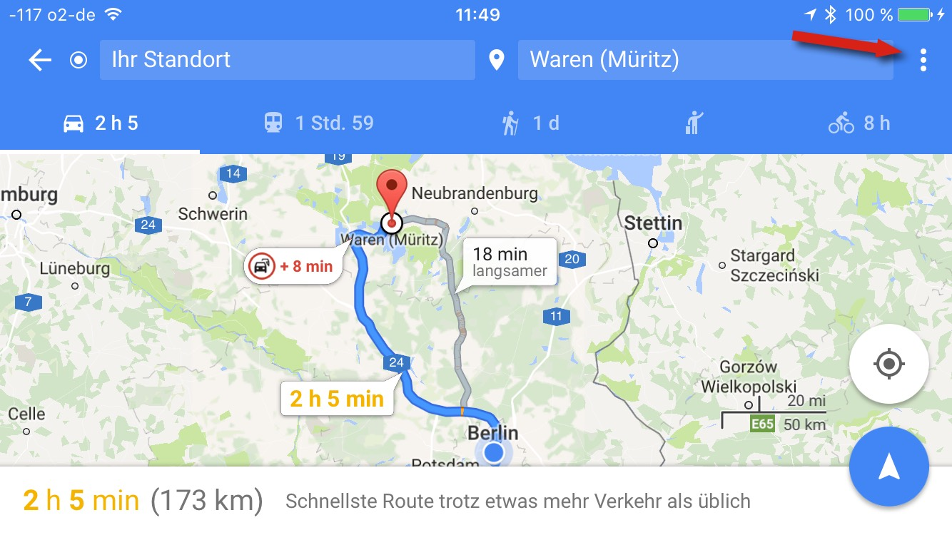 Google Maps: Zwischenziele in Routen festsetzen, so gehts on