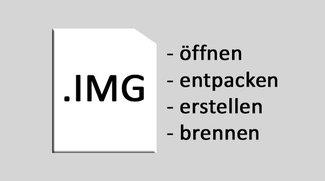 IMG-Datei öffnen, erstellen, entpacken & brennen – so geht's