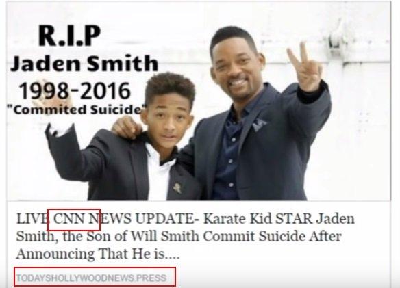 is jaden smith dead