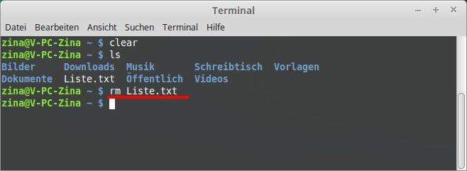 So löscht ihr eine Datei in Linux per Terminal. Bild: GIGA