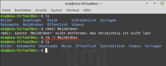 """Der Befehl """"rm -r"""" löscht unter Linux Verzeichnisse, die Dateien enthalten. Bild: GIGA"""