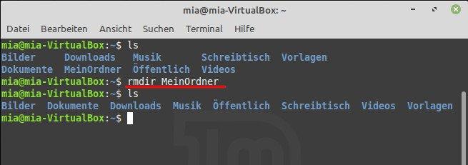 """Der Befehl """"rmdir"""" entfernt unter Linux leere Verzeichnisse. Bild: GIGA"""