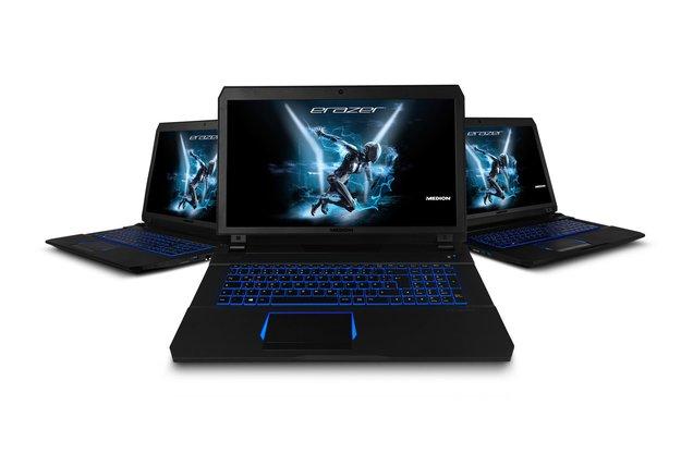 ERAZER X7849: Medion stellt neues Gaming-Laptop mit GeForce-GTX-10-Grafik vor