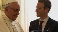 Mark Zuckerberg trifft den Papst - mit Drohne im Handgepäck