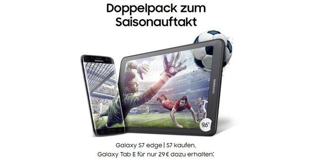 Samsung-Aktion: Galaxy Tab E für 29 Euro beim Kauf des Galaxy S7 (edge) [Update: Aktion gestartet]