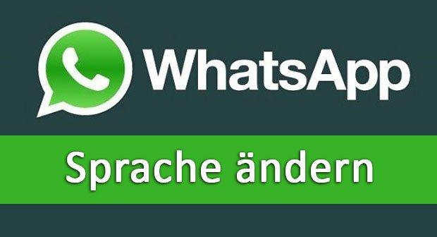 Whatsapp Sprache ändern