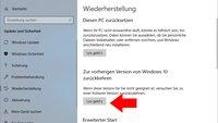 Windows 10: April 2018 Update deinstallieren – so geht's