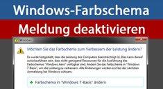 """Windows-Meldung """"Farbschema ändern"""" deaktivieren – so geht's"""