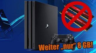 PlayStation 4 Pro: Darum musst Du auf mehr Arbeitsspeicher verzichten