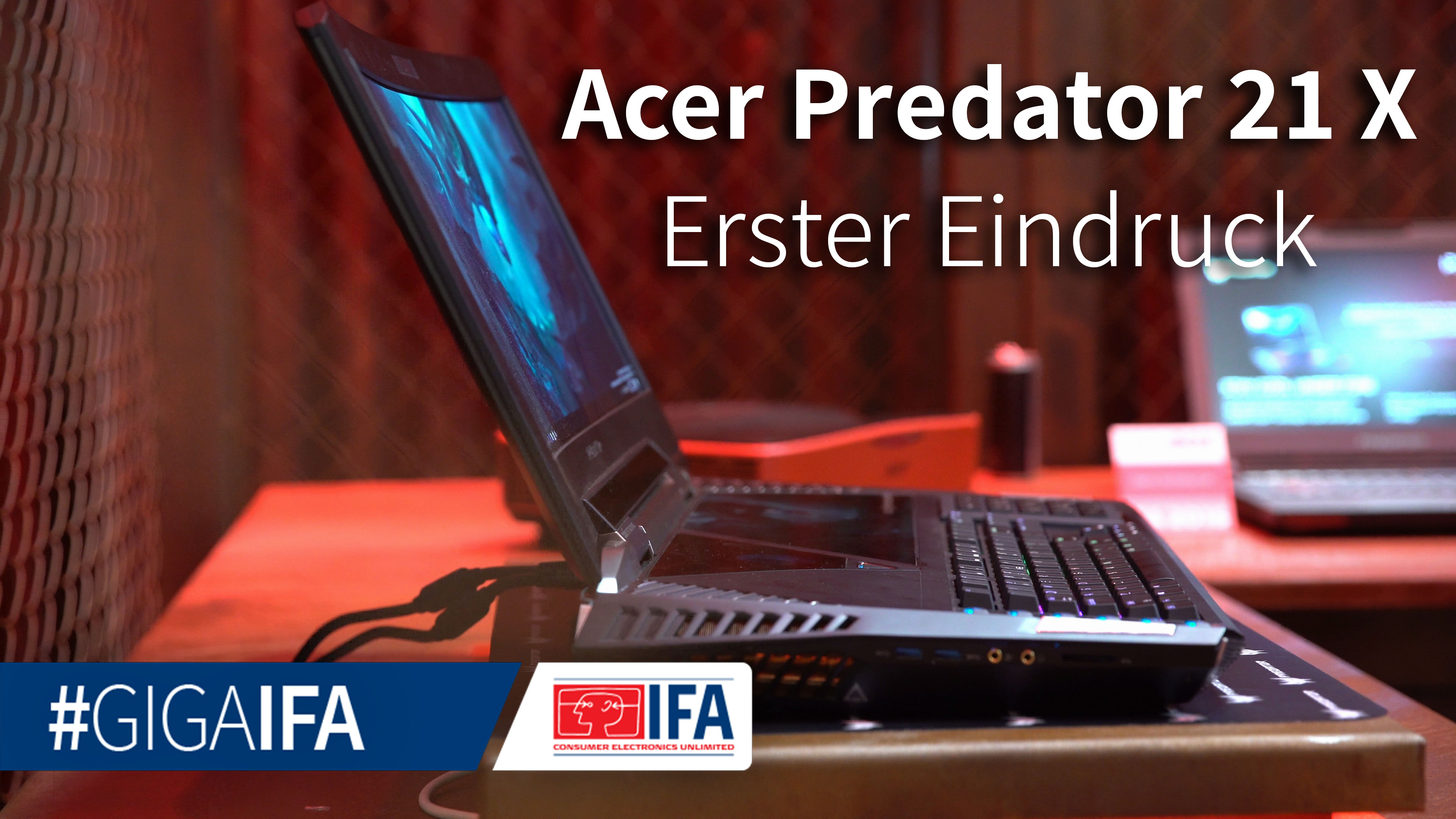 Acer Predator 21 X: Curved-Gaming-Laptop im Hands-On