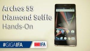 Archos 55 Diamond Selfie: Premium-Smartphone mit guter Ausstattung im Hands-On