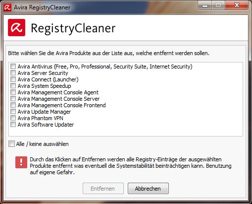 Avira-Registry-Cleaner