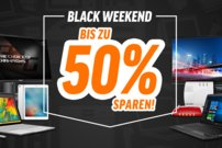 Black Weekend bei Notebooksbilliger: Bis zu 50 Prozent Rabatt auf Laptops, PCs und mehr