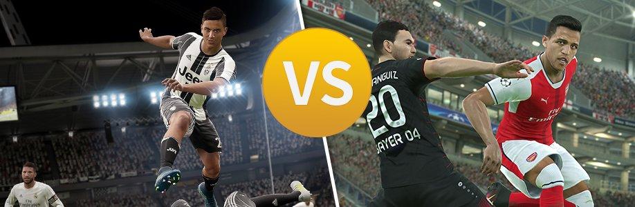 FIFA 17 vs. PES 17