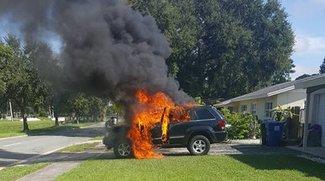 Samsung Galaxy Note 7: Explosion entzündet Jeep Grand Cherokee