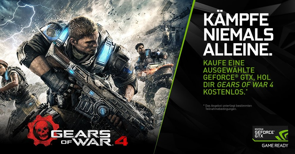Nvidia Gears of War 4 Aktion