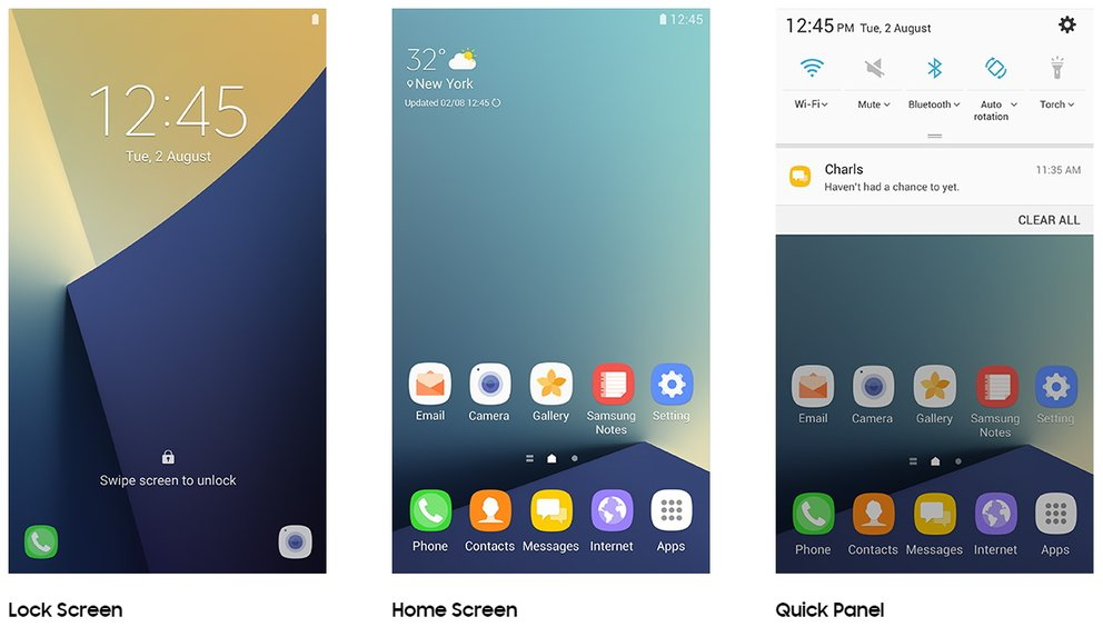 Samsung Galaxy Note 7 Grace UX