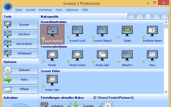 Screeny-Professional