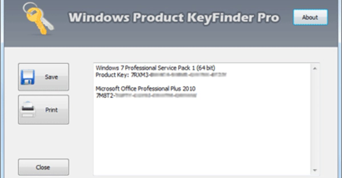 ms office key finder software
