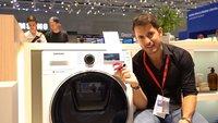Samsung AddWasch: Waschmaschine der Zukunft mit Ladeluke im Hands-On