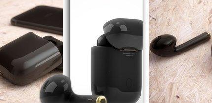 Apple AirPods in Schwarz: Black ist the new white.