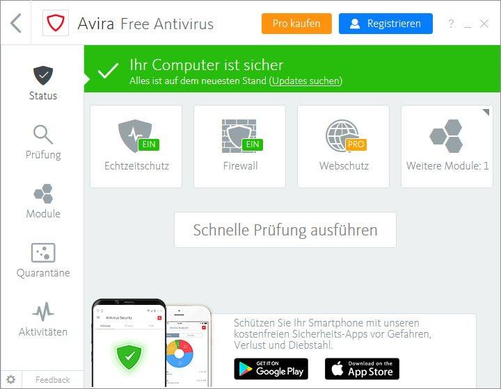 Avira Free Antivirus: Hier startet ihr den Luke Filewalker