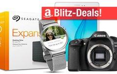 Blitzangebote:<b> Samsung Galaxy Tab A, Festplatten, NAS, Canon EOS 80D, Huawei SmartWatch u.v.m. heute günstiger</b></b>