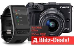Blitzangebote:<b> USB-Sticks, Festplatten, Speicherkarten, Garmin Smartwatch, Canon EOS M3, Medion Tablet u.v.m.</b></b>