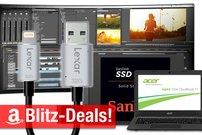 Blitzangebote: SSD, Notebooks, 34-Zoll-Curved-Monitor, iPhone-Speicher, AirPlay-Receiver u.v.m. heute zum Bestpreis