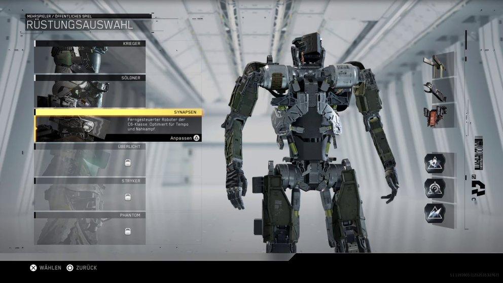 Die Synapsen-Klasse ist ein ferngesteuerter Roboter, der für den Nahkampf produziert wurde.