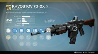 Destiny - Rise of Iron: Khvostov 7G-0X - Fundorte vom Bauplan, Teilen und Handbuchseiten (mit Video)