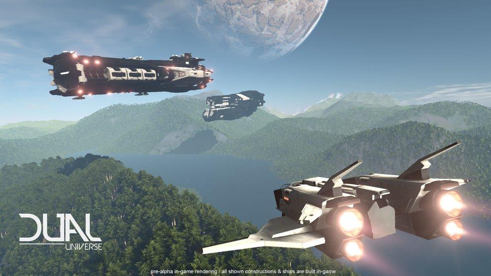 Dual Universe: Sämtliche Schiffe können selbst konzipiert und gebaut werden.