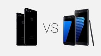 Samsung Galaxy S7 (edge) & Note 7 vs. Apple iPhone 7 & 7 Plus: Spitzen-Smartphones im Vergleich