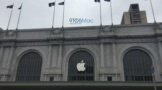 Apple dekoriert Bill Graham Civic Center für iPhone-7-Event