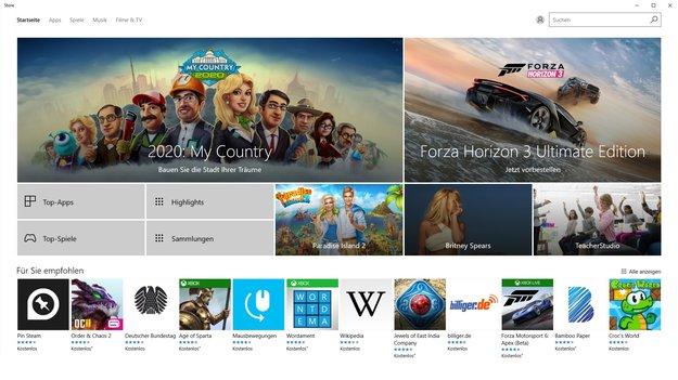 Windows 10: Kostenlose Apps im Store nun ohne Microsoft-Account herunterladbar