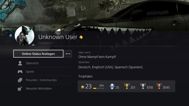 PlayStation 4: Profil - Titelbild festlegen oder ändern