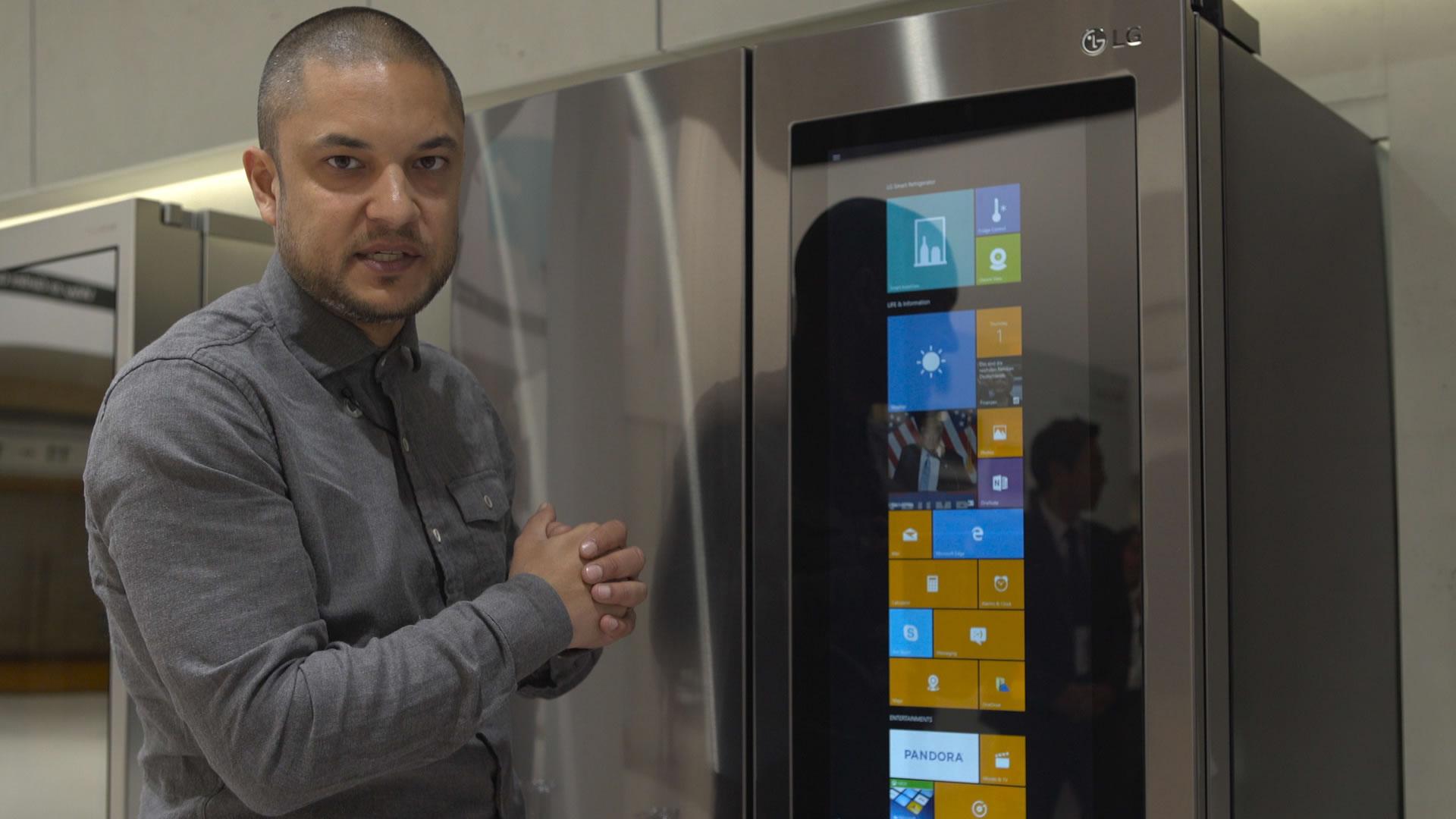 Kühlschrank Lg : Lg smart instaview ausprobiert kühlschrank mit windows und