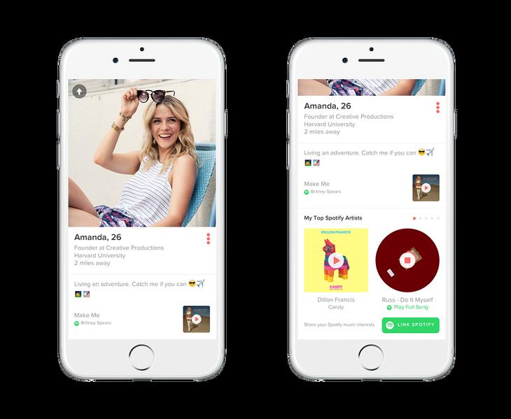 Tinder mit Spotify verbinden und Dates nach Musikgeschmack