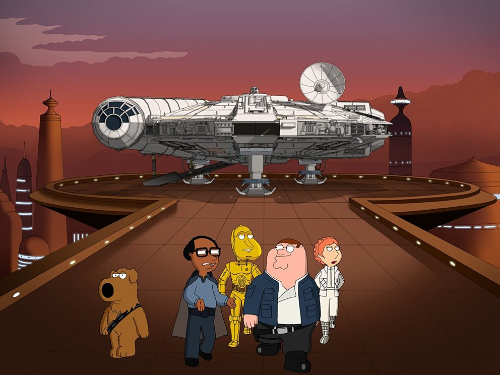 star wars family guy trilogie