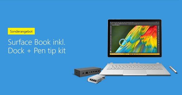 """Surface Book kaufen und Surface Dock sowie """"Pen Tip Kit"""" kostenlos erhalten"""