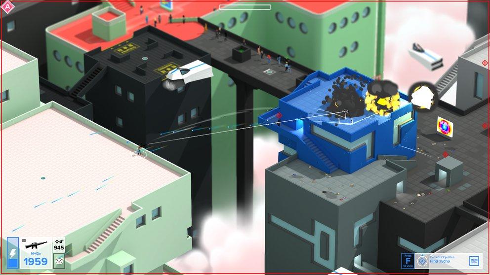 Tokyo 42: Auch brachiales Vorgehen mit Hilfe von Granaten ist möglich, sorgt aber entsprechend für Aufsehen.