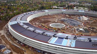 Apple Campus 2: Fliegende Kameras zeigen Fortschritte in Cupertino