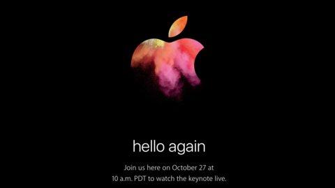 """hello again"": Apple lädt zum MacBook-Event am 27. Oktober"