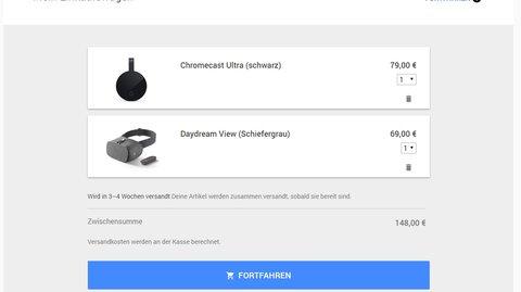 Ab heute könnt ihr Chromecast Ultra und Daydream View im Google Store bestellen