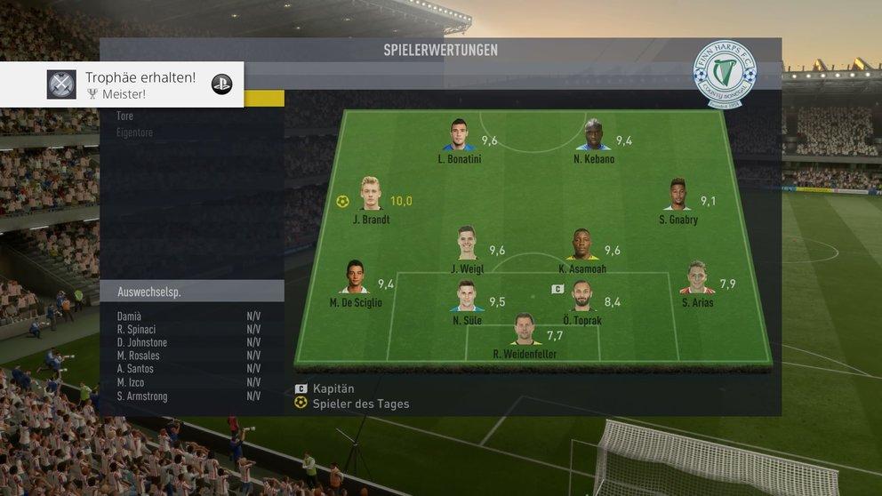 FIFA 17 FUT ESP.-Saison (Im Menü)