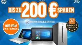 Spart bis zu 200 Euro auf Produkte von HP bei Notebooksbilliger.de